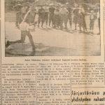 Artikkeli Soini Nikkisen maailmanennätyksestä Kuhmoisten Sanomissa 30.6.1956 (2/2)