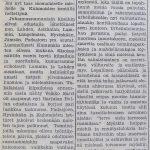 Juttu Soini Nikkisen maailmanennätyksen merkityksestä Kuhmoisten Sanomissa 30.6.1956 (3/3)